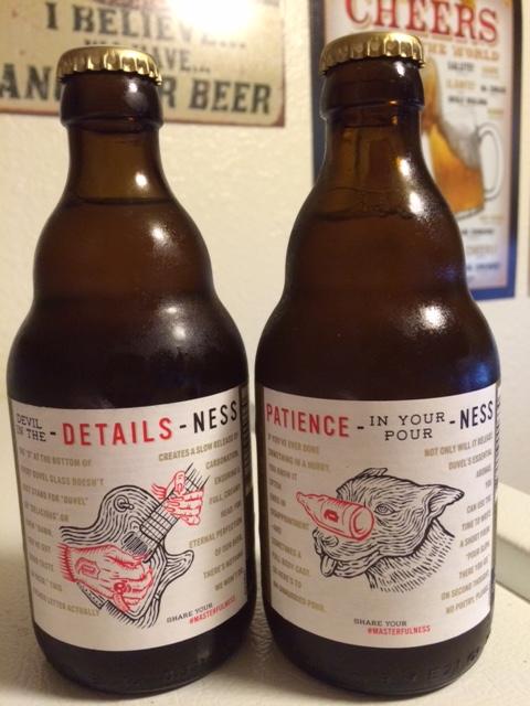 Duvel Belgian Golden Strong Ale back label
